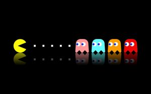 Pac-Man Widescreen by boding-bunny