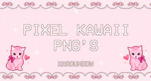 PIXEL KAWAII PNGS by KarouMeow