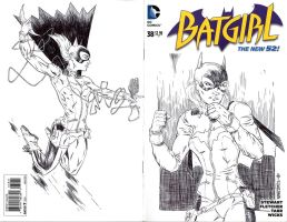 BATGIRL sketch cover by drawhard
