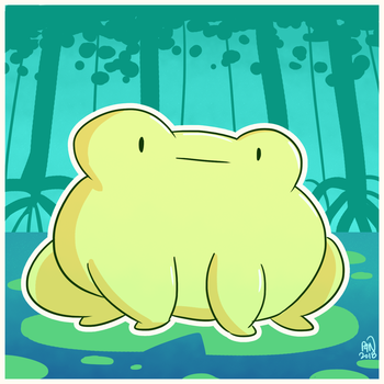 Good Vibes Frog by pickles-4-nickles