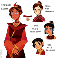 Katara Fire Lady by Amphany