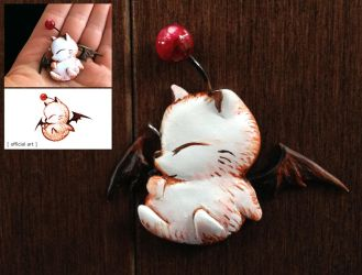 Moogle Necklace Pendant by Gatobob