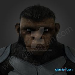 3d Ape Cinematic Character by gameyan