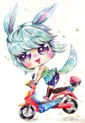 Mimi in moped by Estheryu