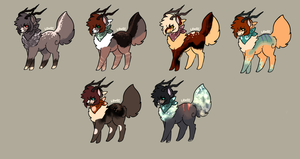 Antler Adopts 7 OPEN by Sunlitmadness