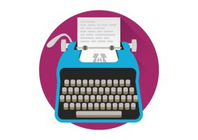 Free-vector-flat-typewriter by superawesomevectors