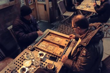 Backgammon and Coffee by eslamelshatby