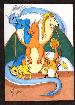 Pokemon Team from Firered by LandLoria333