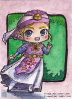 Young Zelda - ACEO by Disaya