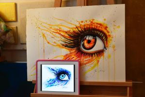 Open your eye commission by PixieCold