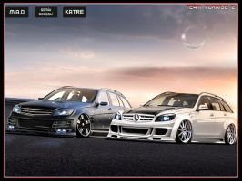 Mercedes-Benz C63 AMG Estate by katre-design