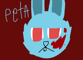 PETA, killers in the form of a bunny by waredragon11