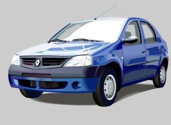 Renault Logan (front) by shatos