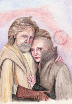 Luke and Leia by aliciayellowlodge