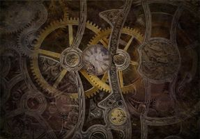 steampunk wallpaper v1 by colgreyis