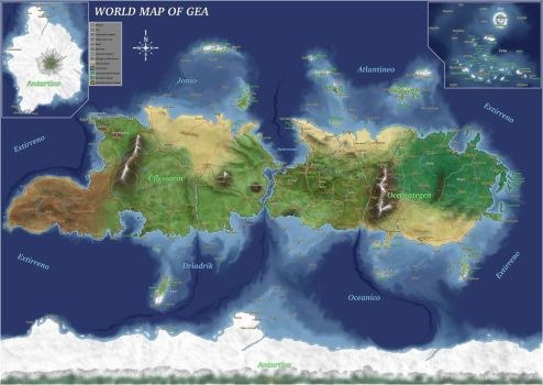 Comission: Map of Gea by alexsanlyra