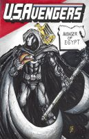 USAvengers Sketch Cover, Moon Knight by WEXAL