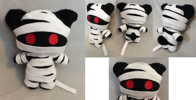 Wraps the Mummy Kitty Plush by MiharutheKunoichi