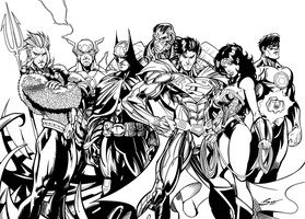 JLA - Inks by Brianskipper