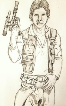 Han Solo pencil by theClementine17