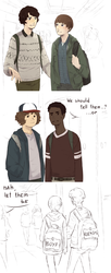 Stranger Things Boyf Riends by Tanuki-desu