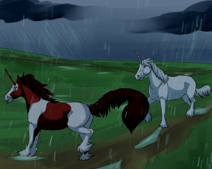Rain Puddles by AngelBleuEyes