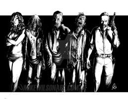 Walking Dead 01 Small by mikewilsonart