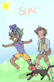 SUN - A Nuzlocke Comic ( ALT Cover ) by CucumberrPrince
