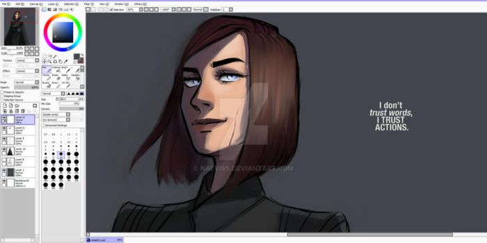 I dont trust words I trust actions WIP by Naeviss