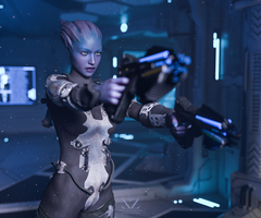 Mass Effect, Asari On Mission (Patreon Commission) by Vizzee