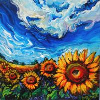 Ukraine Sunflower Fields by Laurazee