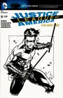 Nightwing sketch cover by Ace-Continuado