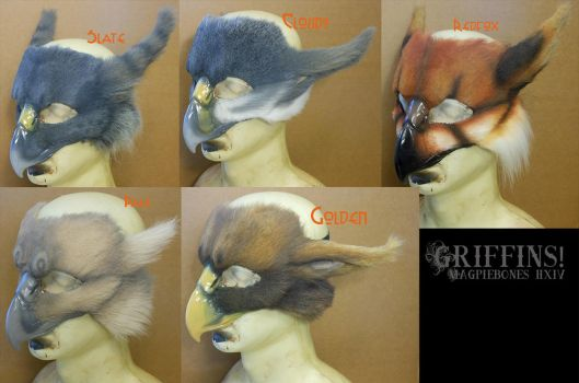 Griffin LARP Masks by Magpieb0nes
