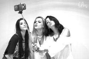 Kisses and selfie stick by omgitsnanda