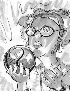 CARE-icatures: Lisa as Sybill Trelawney by BalanComics