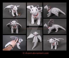 Plushie: Henk the Silver Dragon by Avanii