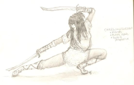 Stretching With Swords by sargentsnarky