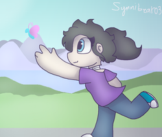 Running child (Commission) by synnibear03