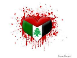 I love Lebanon and Palestine by Free-Palestine