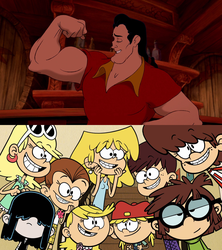 Loud Sisters Love Gaston by DarthWill3