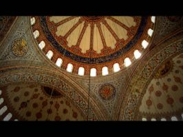 inside of Blue Mosque by Atilla1000