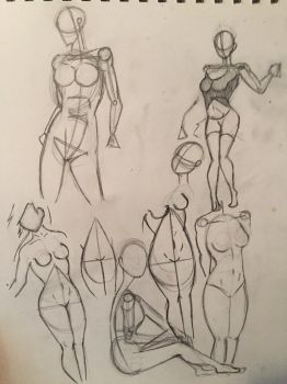 Female body sketches  by LeahStars8