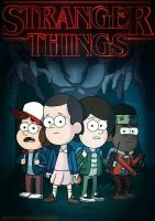 Stranger Things/Gravity Falls by CookiesGirl314