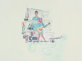 Collage - All U Need Is Music by AmourParisienne