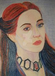 The Red Woman Melisandre from Game Of Thrones by natallymp