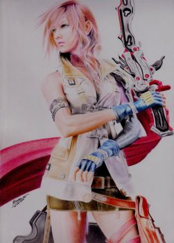 Lightning Claire Farron by EmoMayCry