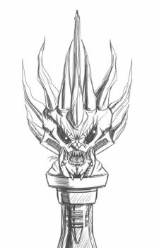 Daily Sketch: Demon Bottle Topper 3 by Hunchy