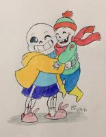 Tiny Pap and Sans by irukaluvsdumplings