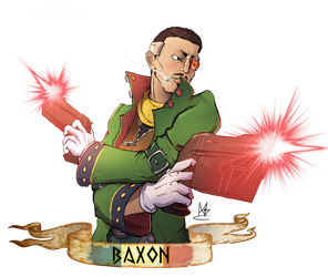 [ COMMISSION ] - French Smasher : Baxon. by Monow
