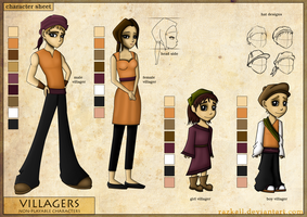 Character sheet - Villagers by Razkall